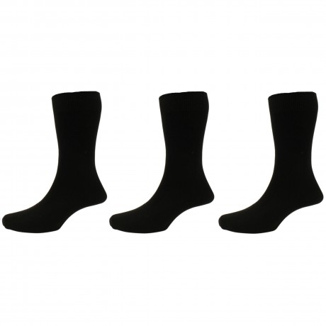 Peter England Plain Black Sock 3 Pair Pack