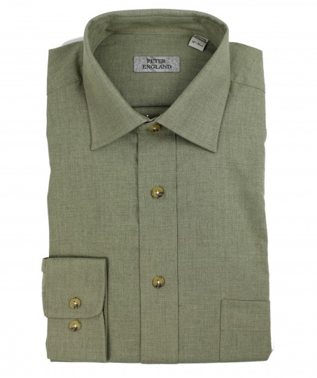 Peter England Warm Handle Herringbone Melange Shirt
