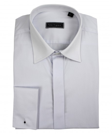 Peter England Plain Front Classic Collar Cotton Dress Shirt