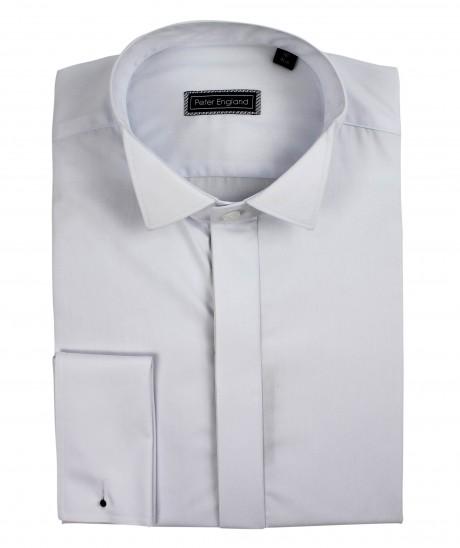 Peter England Plain Front Wing Collar Cotton Dress Shirt