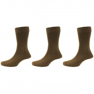 Peter England Plain Brown Sock 3 Pair Pack