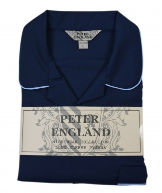 Peter England Plain Navy Blue Pyjama