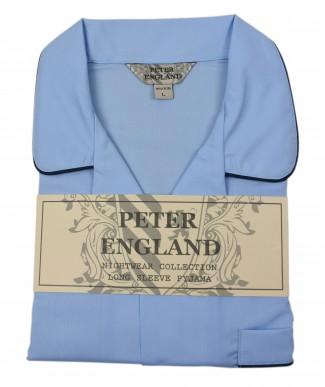 Peter England Plain Mid Blue Pyjama