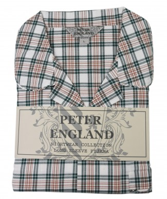 Peter England Green Open Check Warm Handle Pyjama