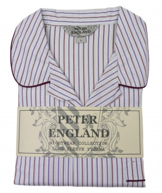 Peter England Lilac Stripe Pyjama