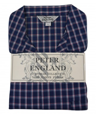 Peter England Navy Check Pyjama