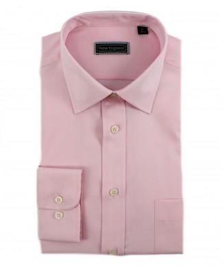 Peter England Cotton Plain Pink Shirt