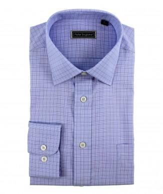 Peter England Cotton Blue Check Shirt