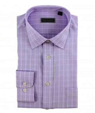 Peter England Cotton Purple Check Shirt