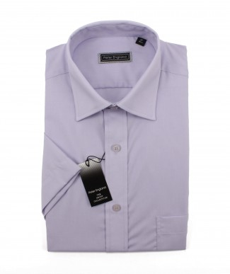 Peter England Mens Plain King Size Short Sleeve Shirt