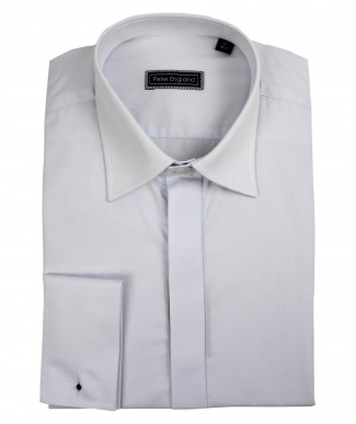 Peter England Plain Front Classic Collar Cotton Dress Shirt