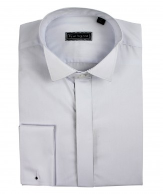 Peter England Plain Front Wing Collar Cotton Dress Shirt